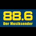 88.6 Der Musiksender Regional-Logo
