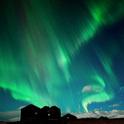 Aurora Borealis treten eher in nördlichen Breitengraden auf