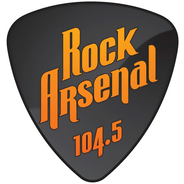 ROCK ARSENAL 104.5 FM-Logo