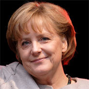 Die Bundeskanzlerin Angela Merkel und die Kleinkunst.