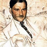 Ein Portrait des Autors Jewgenij Samjatin von Boris Kustodiev aus dem Jahr 1923