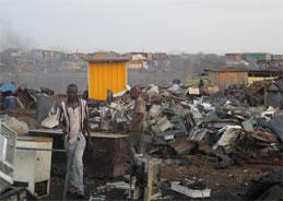 Der Elektroschrott und die westafrikanischen Kindern in Ghana.