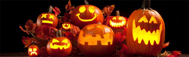 Ohne ausgehöhlte Kürbisse kein Halloween - die passende Musik zum Fest gibt's im Radio