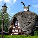 In dem kleinen Dorf gibt es insgesamt nur sieben Häuser!