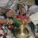 Indische Hochzeiten sind sehr schmuckvoll