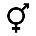 Das Intersexualitätssymbol vereint