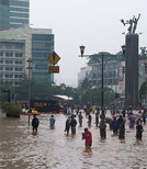 Jakarta hat schon länger Probleme mit Überflutung