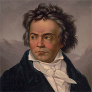 Beethoven sitzt manchmal neben ihm, sagt der Künstler.