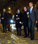 Barack Obama hat das Bataclan nach dem Anschlag auch aufgesucht