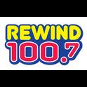 Rewind 100.7 KYMV-Logo