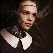Roboter mit menschlichen Zügen