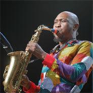 Seun Kuti am Saxofon beim Rudolstadt-Festival 2019