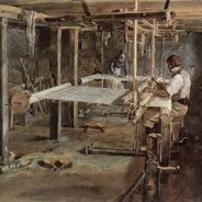 Der Webstuhl um 1830 ist ein Sinnbild der industriellen Revolution