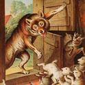 Der Wolf fällt in die Tür!